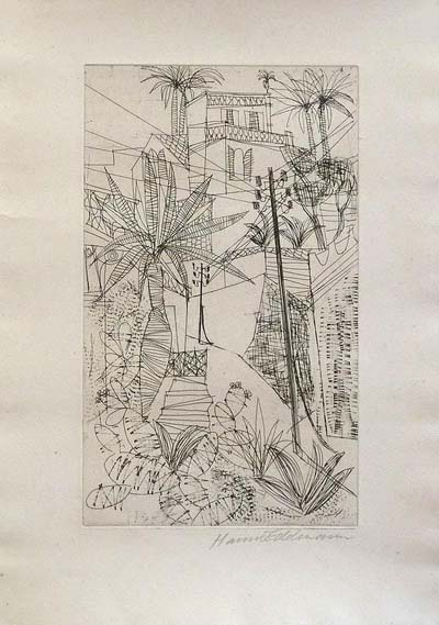 Etching: City in the South