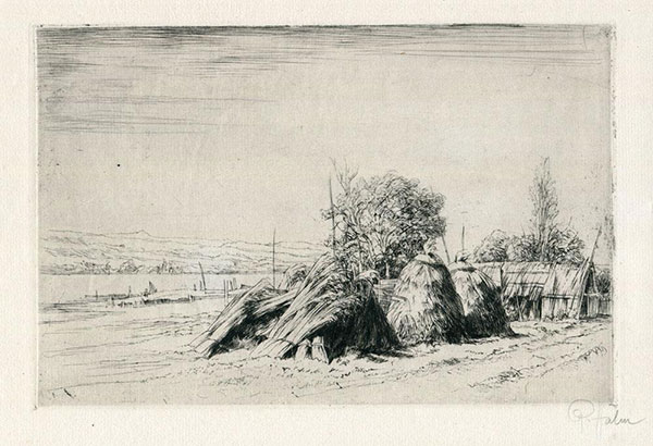 Etching: Haystacks