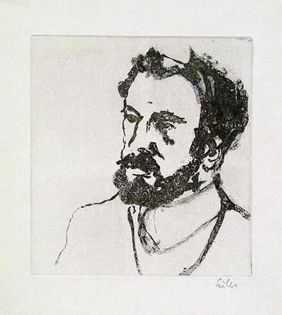 Etching: Men's Portrait