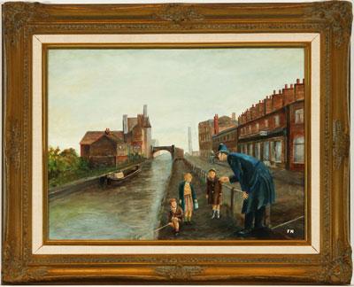 Wall Art: Children Fishing