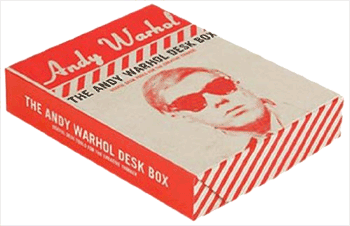 The Andy Warhol desk box, which contains tools for creative thinking.