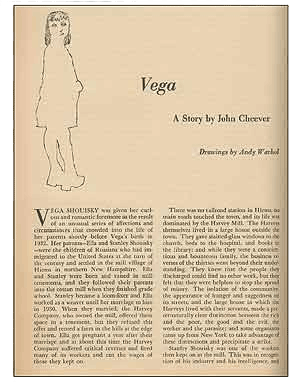 December 1949 issue of Harper's Magazine, which contains three illustrations by Warhol