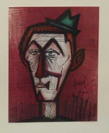 Clown on Red Bottom by Bernard Buffet