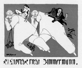 Ernst Zimmermann's bookplate by Willi Geiger