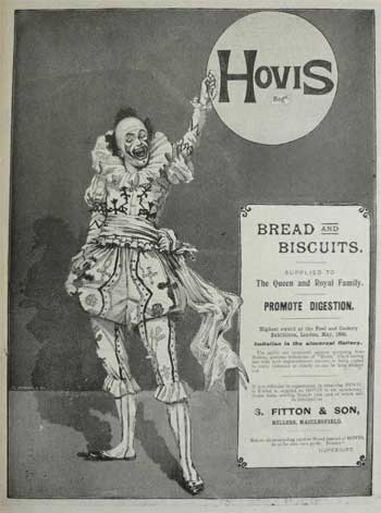 Hovis clown advert for bread & biscuits
