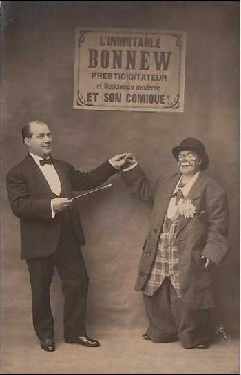 Postcard of French circus performers L'Inimitable Bonnew