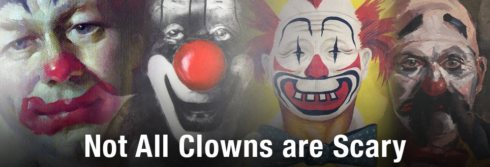Not all Clowns are Scary. Clowning Around in Arts, Photography & Literature