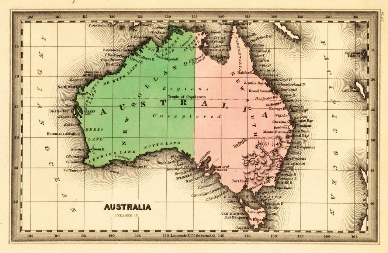 Map of Australia 1832