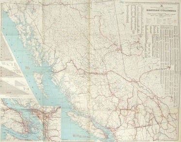 British Columbia Commercial Map 1948