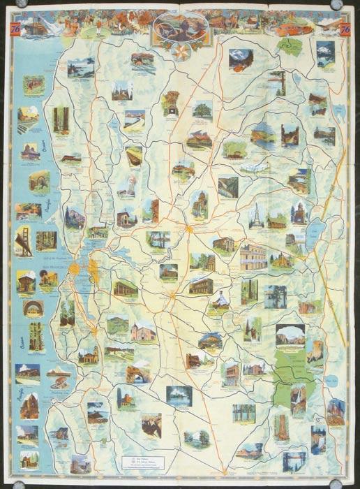 Golden Gate Souvenir Map 1939