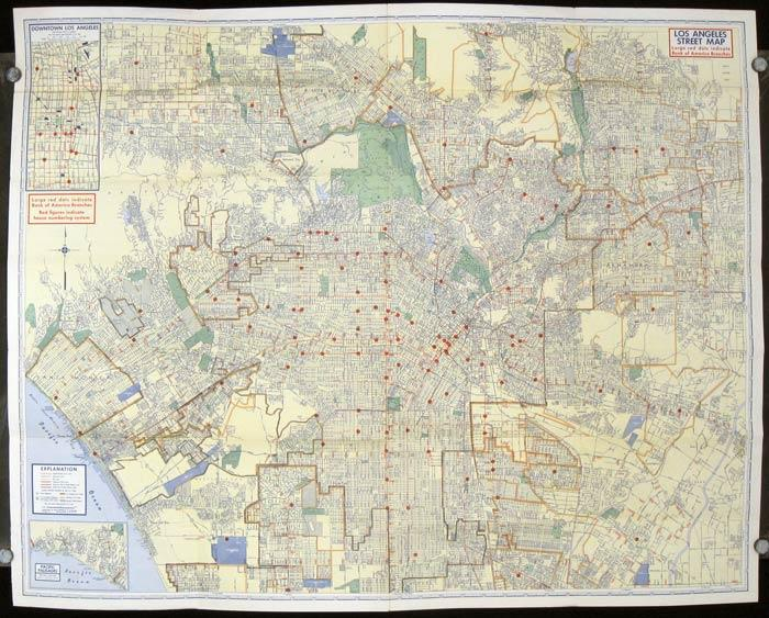 LA Street Map 1940