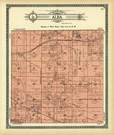 Map of Alba Township 1911