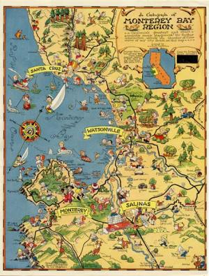 Map of Monterey Bay 1932