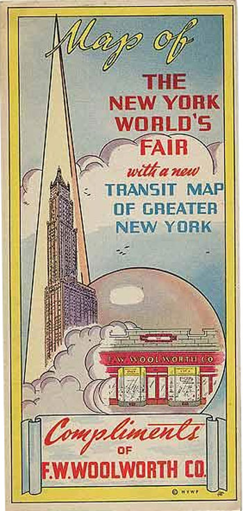 New York World's Fair with Transit Map