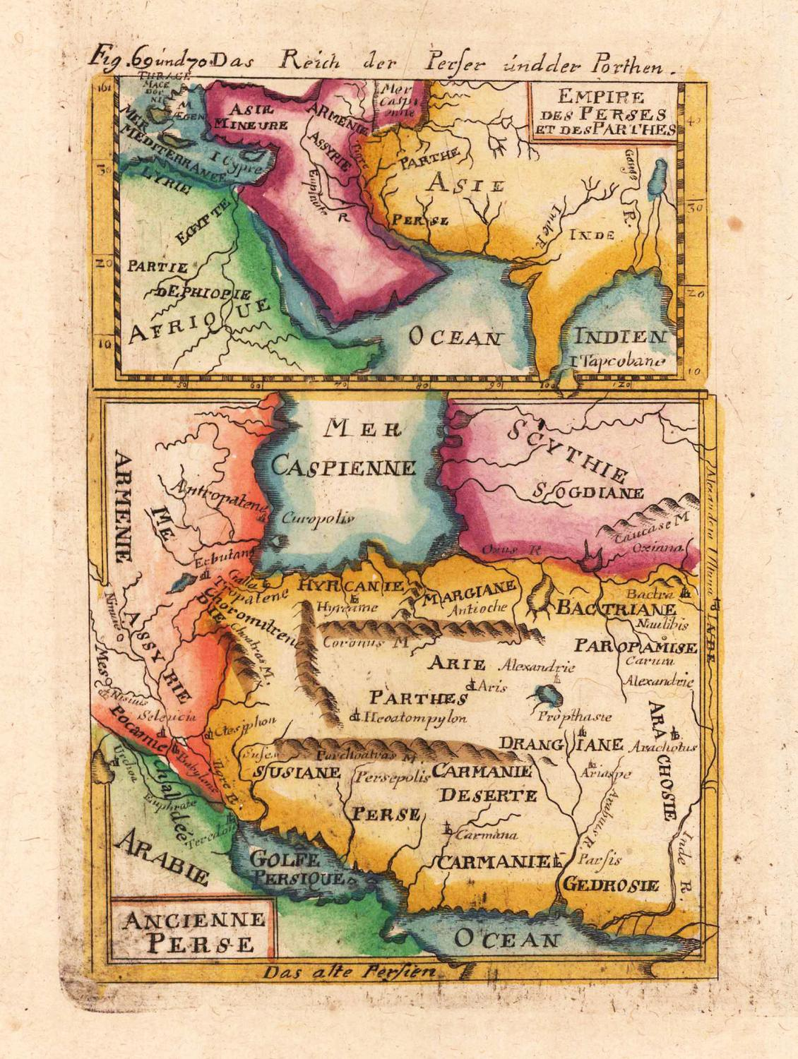 Map of Ancient Persia 1719