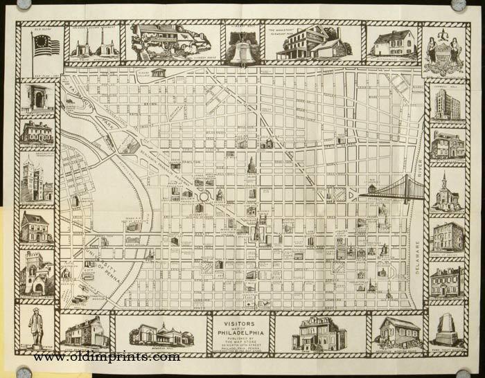 Visitors Map of Philadelphia 1944