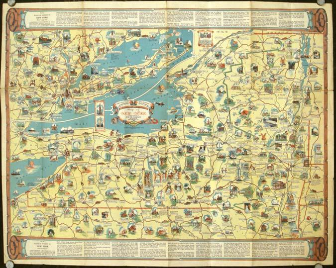 Road Map of New York