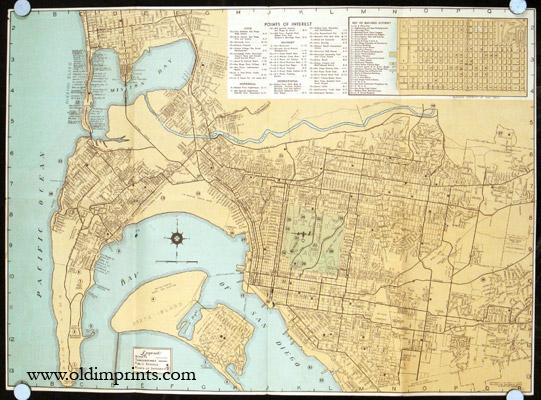 Map of San Diego 1940s