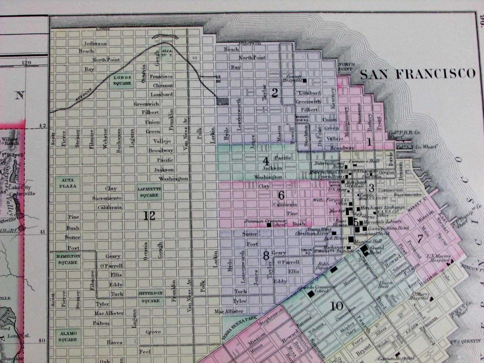 San Francisco City Plan 1887