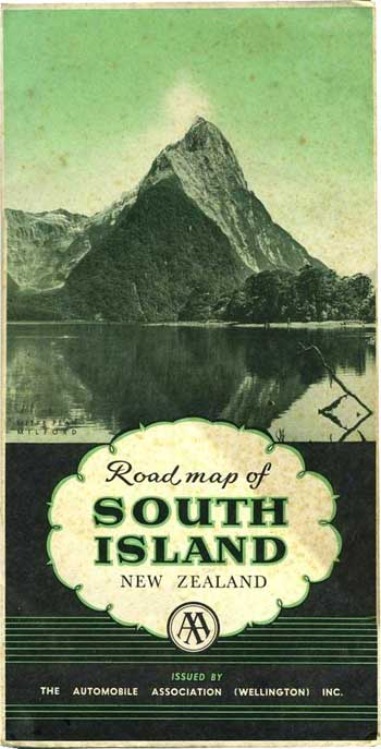 Touring Map of South Island New Zealand