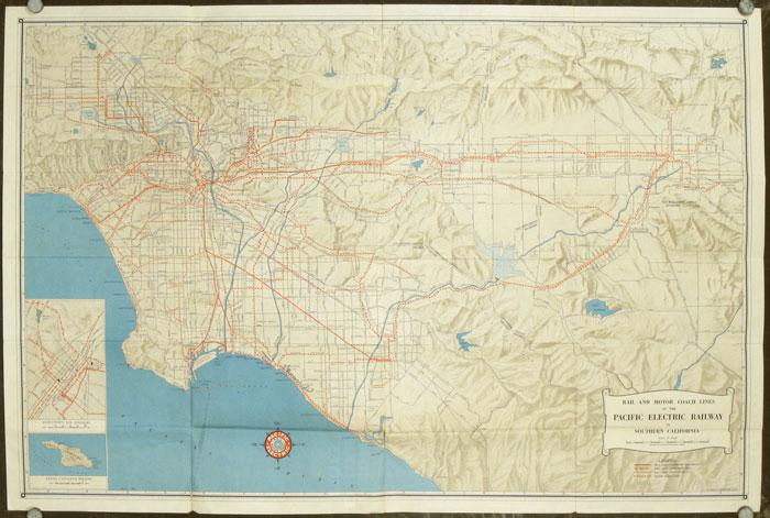 Southern California Rail Map 1946