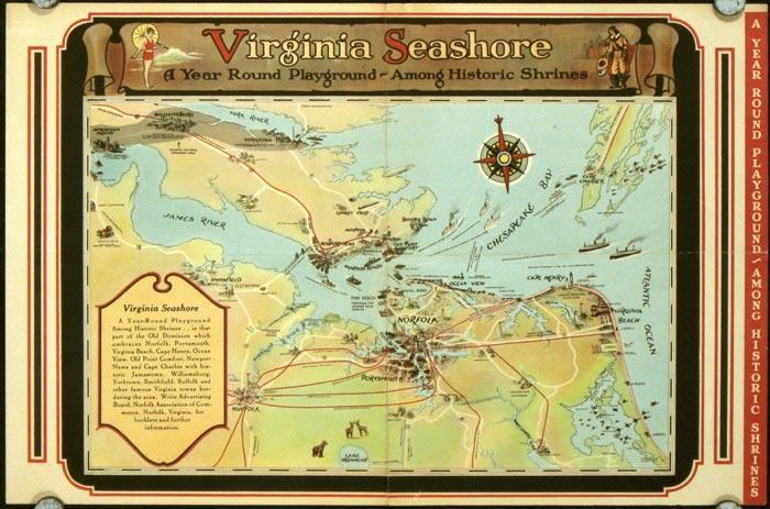 Map of Virginia Seashore 1930