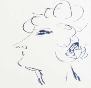 Sidonie-Gabrielle Colette, self-portrait