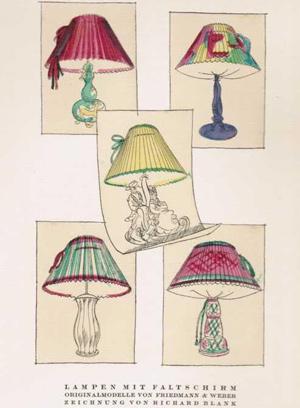 Lampen mit Faltschirm