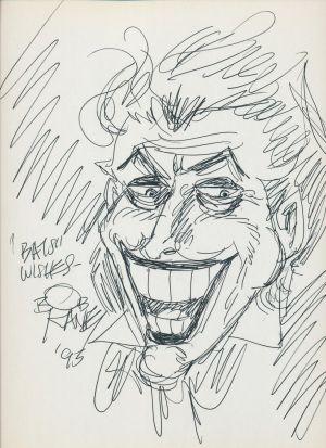 Original-Zeichnungen von Batman und dem Joker von Bob Kane