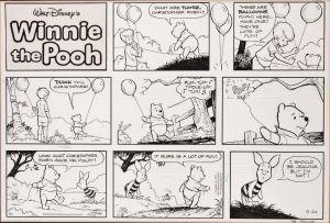 Winnie The Pooh Original-Zeichnung von Richard Sparky Moore