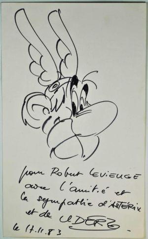 Original Asterix-Zeichnung von Albert Uderzo