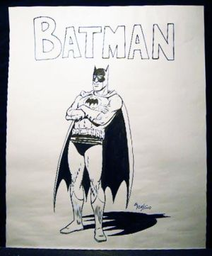 Original Batman-Zeichnung von Al Plastino