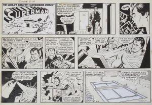 Superman Comicstrip aus Tageszeitung