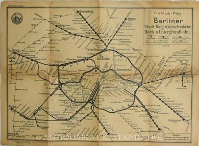 Plan der Hoch- und Untergrundbahn in Berlin