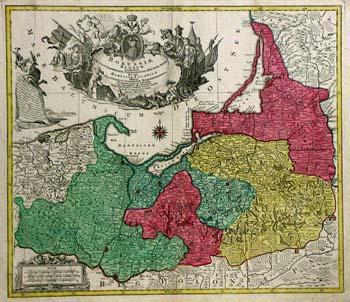 Karte von Preußen