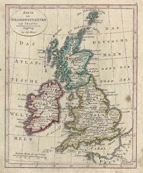 Karte von Grossbritanien und Irland