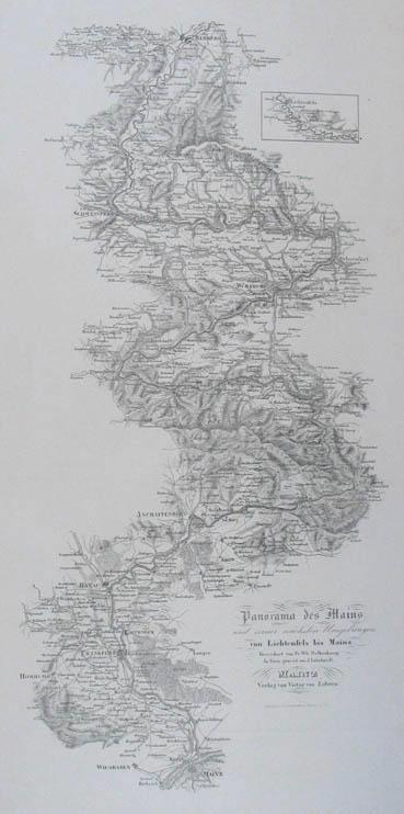 Flusslaufkarte des Mains