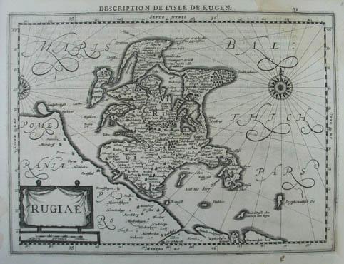Karte der Insel Rügen