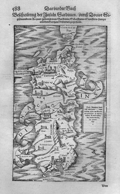 Karte der Insel Sardinien