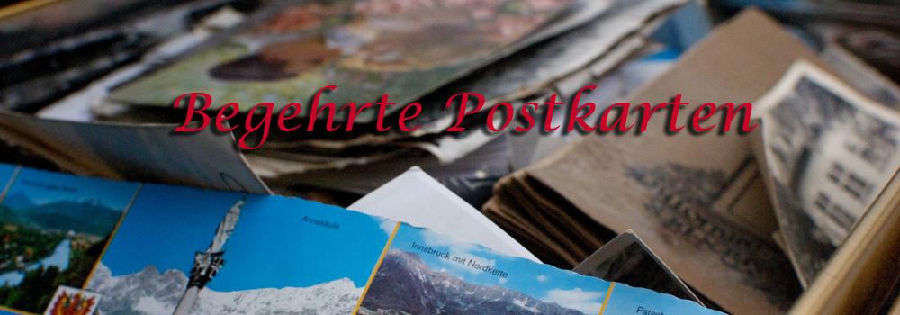 Begehrte Postkarten
