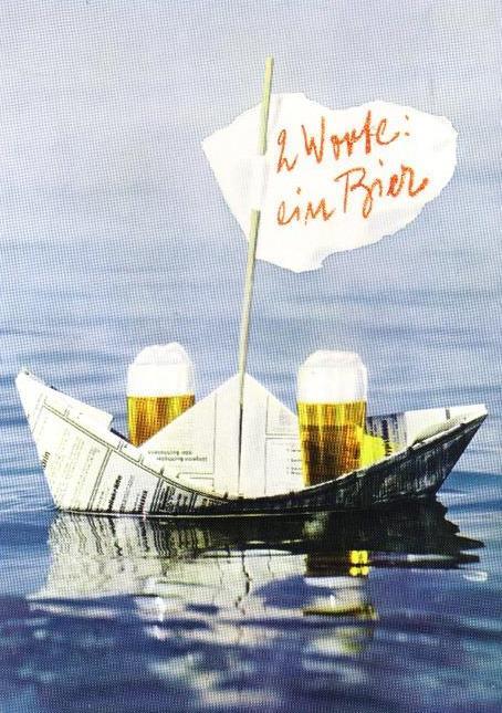 2 Worte: ein Bier