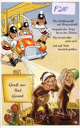 Humorvolle Grußkarte aus Bad Grund