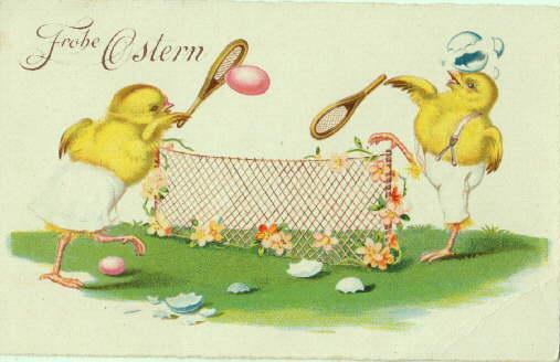 Küken beim Tennis