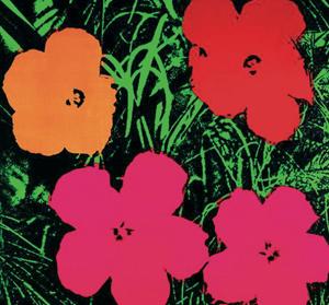 Andy Warhol obras: Flowers