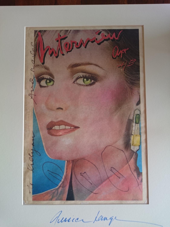 Retrato firmado de Jessica Lange