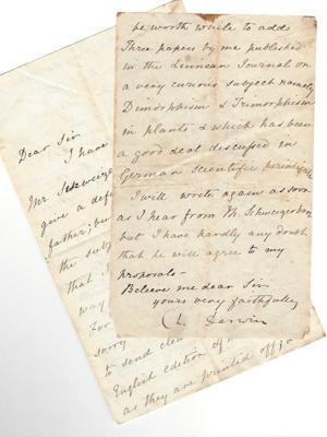 Charles Darwin an Rudolf Suchsland