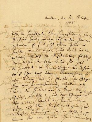 Robert Schumann an den Komponisten Carl Wettig