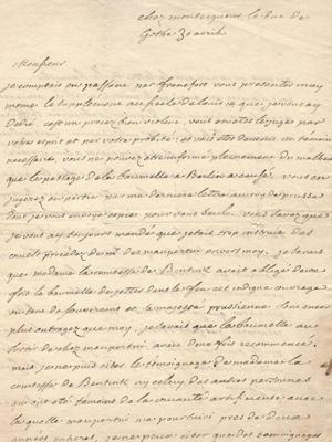 Voltaire an Jacques Emanuel Roques, einen hessen-homburgischen Kirchenrat