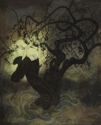 The Buried Moon Originalaquarell Illustriert von Edmund Dulac
