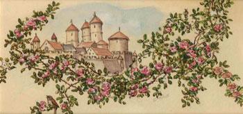 Originalzeichnung von Cinderellas Schloss